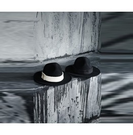 Men's Custom Flat Rope Mountain Fedora