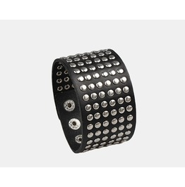 Six Rows Rivets Leather Bracelet