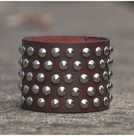 Five Rows Rivets Leather Bracelet