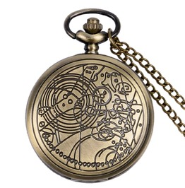 Vintage Bronze Engraved Pocket Watch