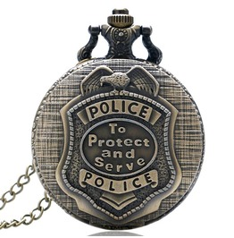 Vintage Bronze Police Pocket Watch