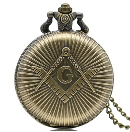 Vintage Bronze Masonic Pocket Watch