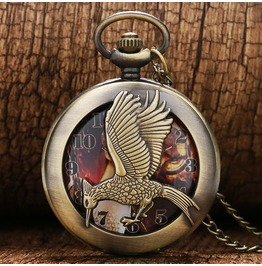 Vintage Bronze Bird Pocket Watch