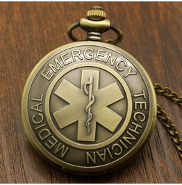 Vintage Bronze Emergency Pocket Watch
