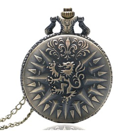Vintage Bronze Lannister Pocket Watch