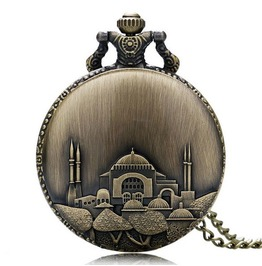 Vintage Bronze Mosque Pocket Watch