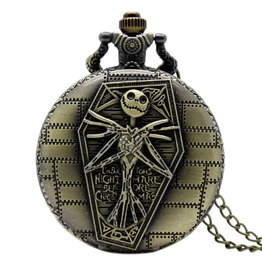 Vintage Bronze Nightmare Before Christmas Pocket Watch
