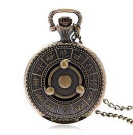 Vintage Bronze Ancient Zodiac Pocket Watch