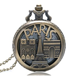 Vintage Bronze Paris Pocket Watch