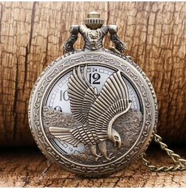 Vintage Bronze Eagle Pocket Watch