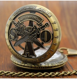 Vintage Bronze Double Sword Pocket Watch