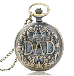 Vintage Bronze Dad Pocket Watch
