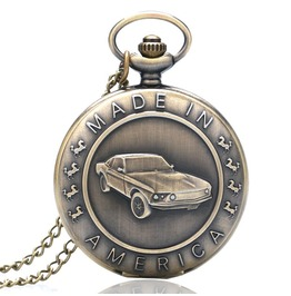 Vintage Bronze Sedan Pocket Watch