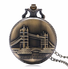 Vintage Bronze Uk Bridge Pocket Watch