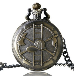 Vintage Bronze Fire Fighting Pocket Watch