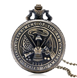 Vintage Bronze Us Army Pocket Watch