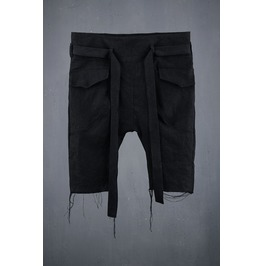 Men's Linen Belt Crop Shorts
