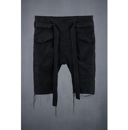 Men's Linen Belt Crop Shorts