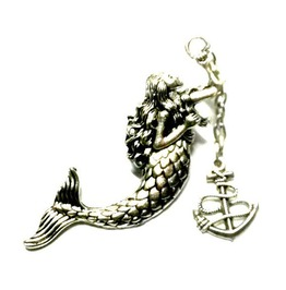 Mermaid Pin Steampunk Sea Maiden Anchor Handmade By Aunt Matilda's Jewelry