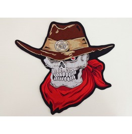 Steampunk Biker Patches Large Skull Cowboy