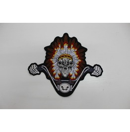 Steampunk Biker Patches Large Skull Riding Bike