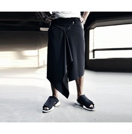 Triangle Skirt Layerd Wide Pants Pants