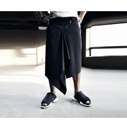 Triangle Skirt Layerd Wide Pants Pants