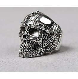 Silver Ring/Rings/Mens Sm Helmet Skull Silver Ring