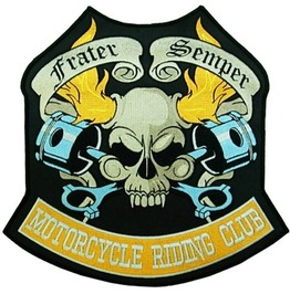 Steampunk Biker Patches Large Skull Riding Club