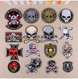Steampunk Iron On Biker Patches Assorted 16 Pc. Lot D2