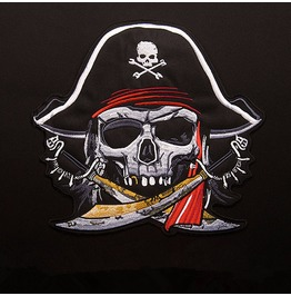 Biker Pirate Patch