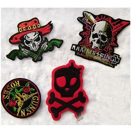 Steampunk Iron On Biker Patches Assorted 8 Pc. Lot D5