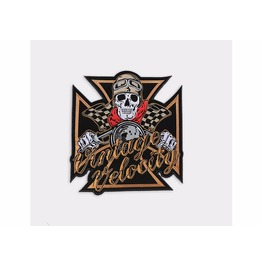 Steampunk Biker Patches Large Cross Skull Riding Bike