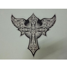 Steampunk Biker Patches Large Skull Cross