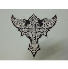 Steampunk Biker Patches Large Skull Cross