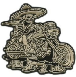 Steampunk Biker Patches Mexican Skull Biker