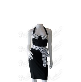 Rockabilly Polka Dots Dress With Matching Belt