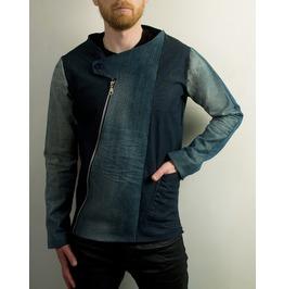 Avant Garde Asymmetrical Blue Denim Jacket