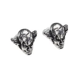 M'era Luna Evil Clown Unisex Earring Studs By Alchemy Gothic