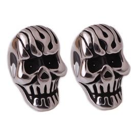 Steampunk Horror Skull Stud Earrings