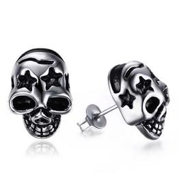 Steampunk Hollow Out Star Skull Stud Earrings