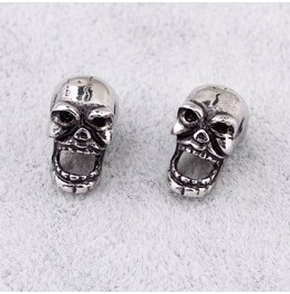 Steampunk Laughing Skull Stud Earrings