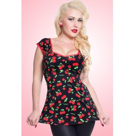 Sexy Cherry Vintage Pinup Rockabilly Babydoll Plus Sizes Festival Tank Top