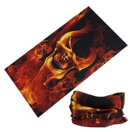Inflame Skull Multi Usage Bandana Bike Scarf