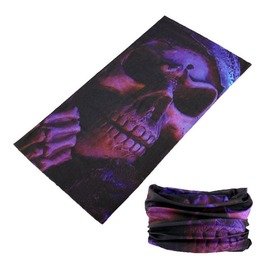 Purple Skull Multi Usage Bandana Bike Scarf