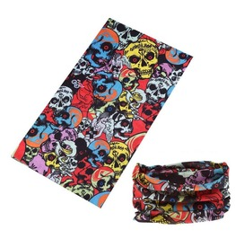 Crowded Colorful Skull Multi Usage Bandana Bike Scarf