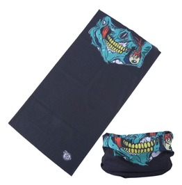 Grinning Half Face Skull Multi Usage Bandana Bike Scarf
