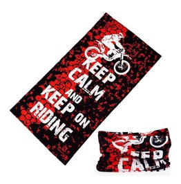 Keep Calm And Keep On Riding Multi Usage Bandana Bike Scarf D1
