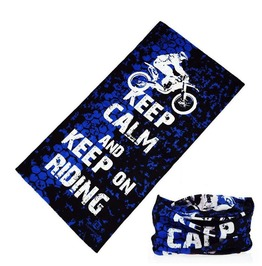 Keep Calm And Keep On Riding Multi Usage Bandana Bike Scarf D2