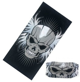 Feather Skull Multi Usage Bandana Bike Scarf